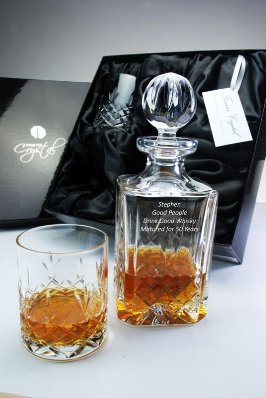 Personalised 3-Piece Buckingham 3-Piece Whisky Decanter Set