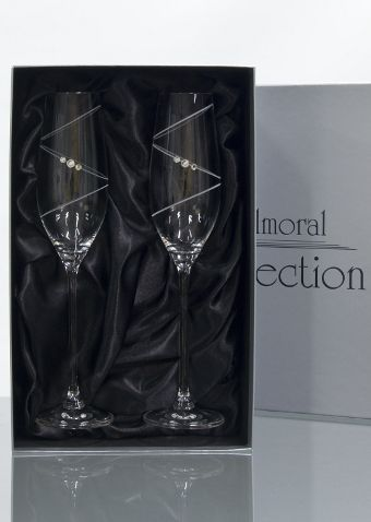 2 Ring Champagne Glasses | Swarovski Elements