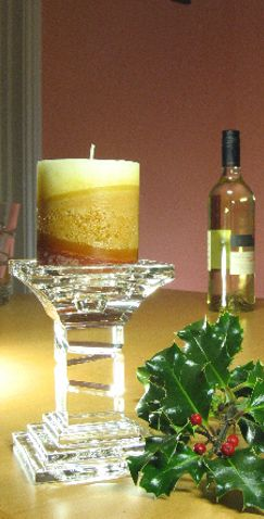 14cm Swirl Cut Crystal Candle Holder