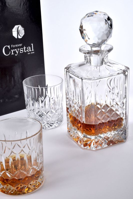 Admiralty Crystal Spirit Decanter Set, 3-Pieces