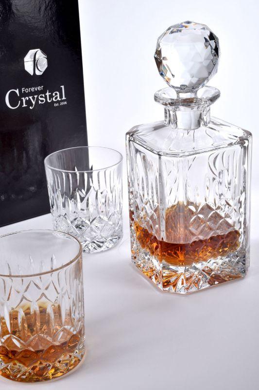 Admiralty Crystal Spirit Decanter Set, 3-Pieces