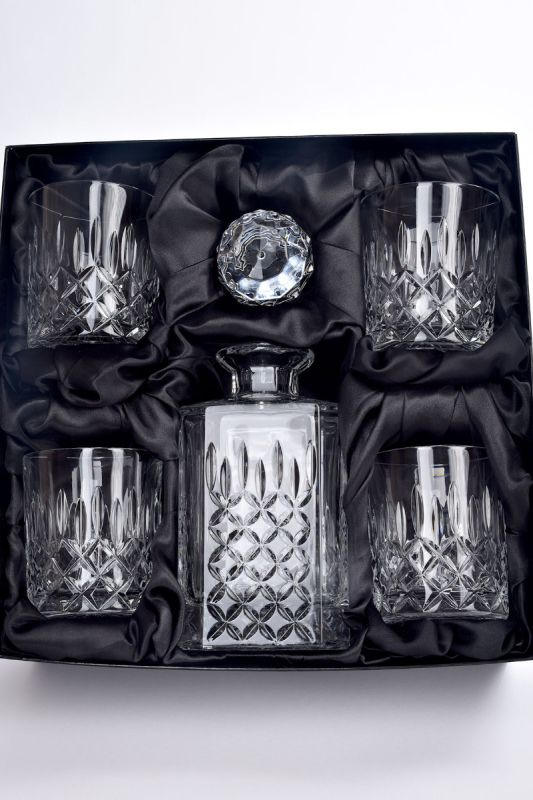 Admiralty Crystal 5-Piece Whisky Decanter Set