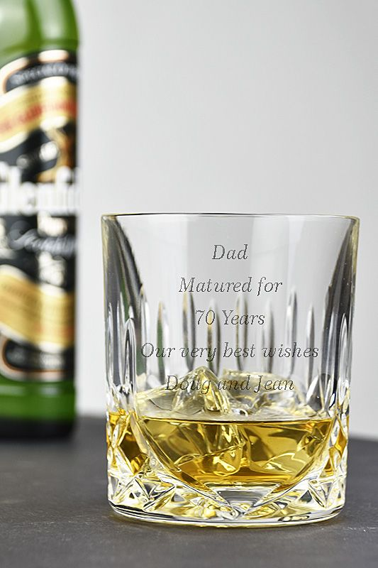 Admiralty Crystal Engraved Whisky Glasses