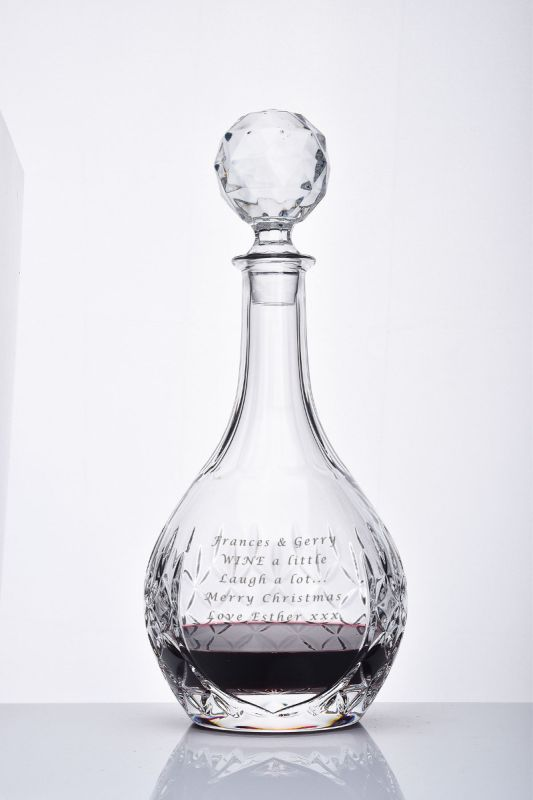 Personalised Crystal Wine Decanter | Admiralty