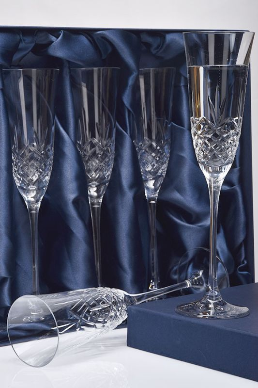 Blenheim Crystal Champagne Glasses | Set of 6