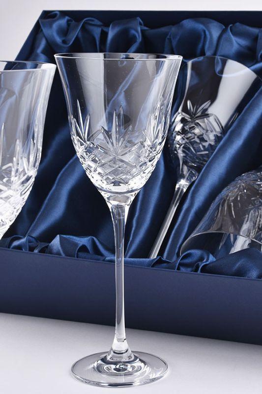 Blenheim Lead-Free Crystal Wine Glasses, Set of 6