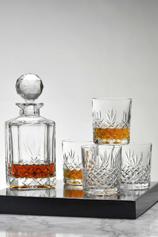 Buckingham Crystal 5-Piece Decanter Presentation Boxed Gift Set