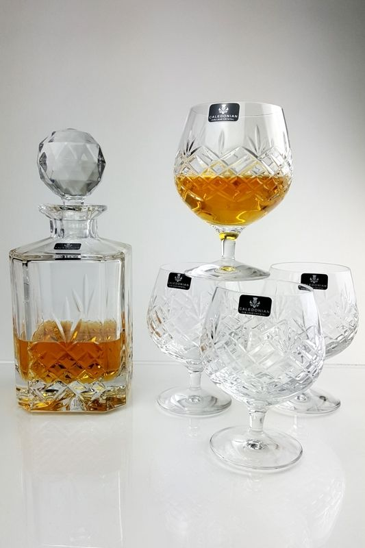Square Crystal Whisky Decanter Set | Westmore