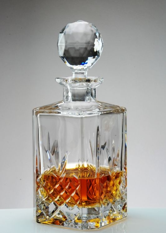 Square Crystal Whisky Decanter