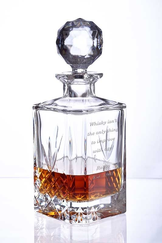 Personalised Buckingham Crystal Decanter with Engraved Message