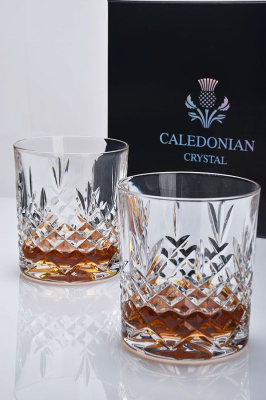 Buckingham Crystal Whisky Glasses | Gift Boxed Pair