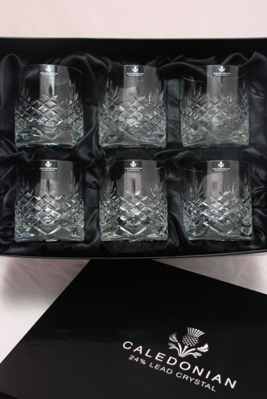 Buckingham Crystal Whisky Glasses | Set of 6