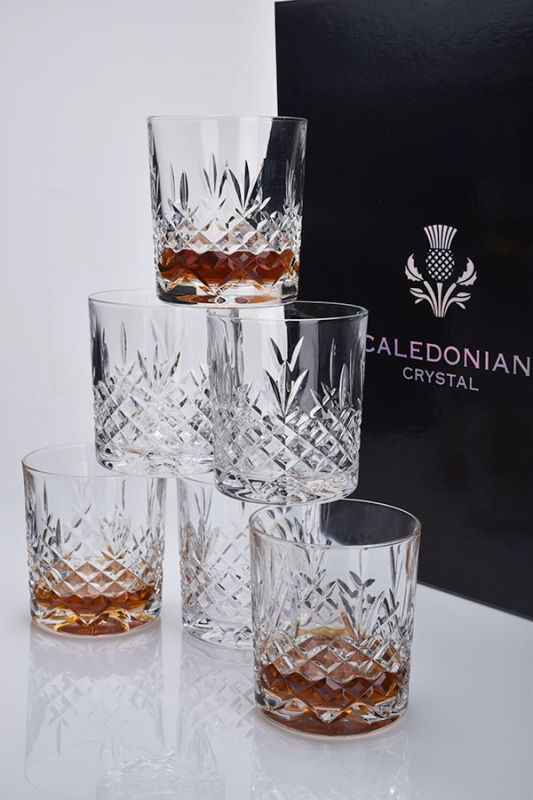 Buckingham Crystal Whisky Glasses | Set of 6