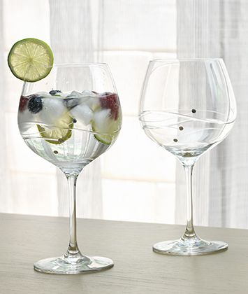 Balloon Gin Glasses | Diamante Satin Boxed Pair