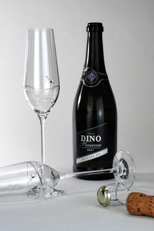 Personalised Prosecco Flutes   Diamante