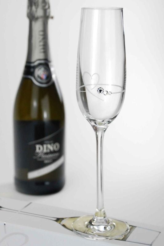 Single Diamante Petit Champagne Flute Gift