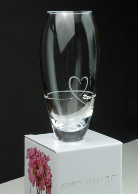 Diamante Petit Heart Bud Vase with Swarovski Elements