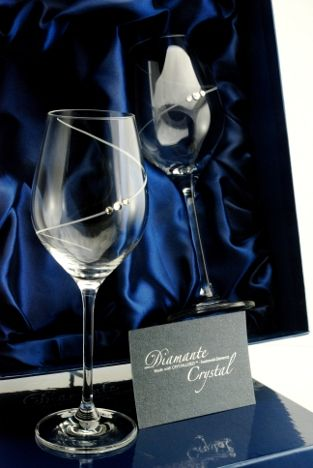 Silhouette White Wine Glasses | Swarovski Elements