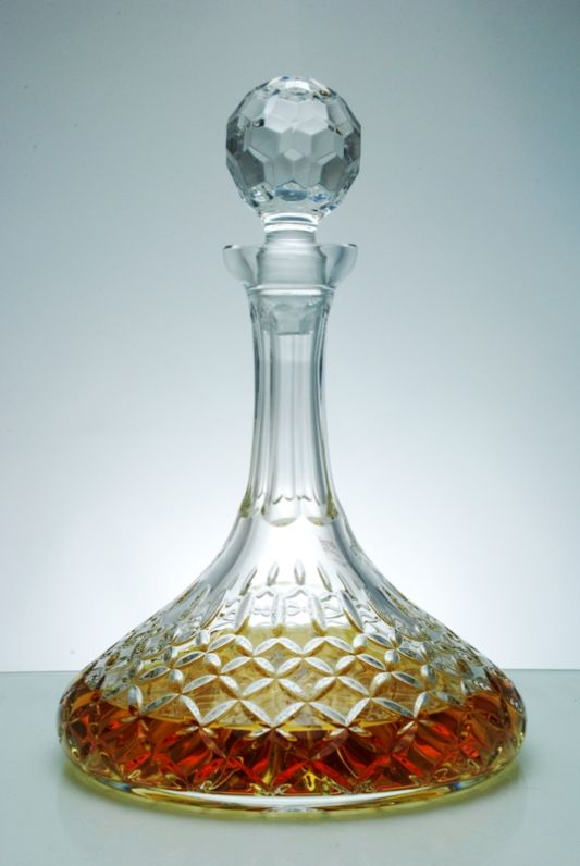 Admiralty Crystal Ship Decanter in Satin Presentation Box