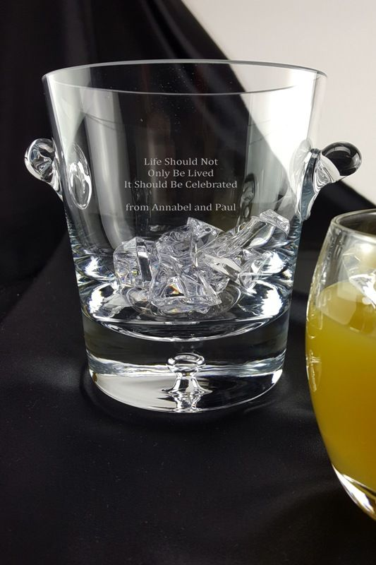 Engraved Bubble Base Ice Bucket with Personalised Message