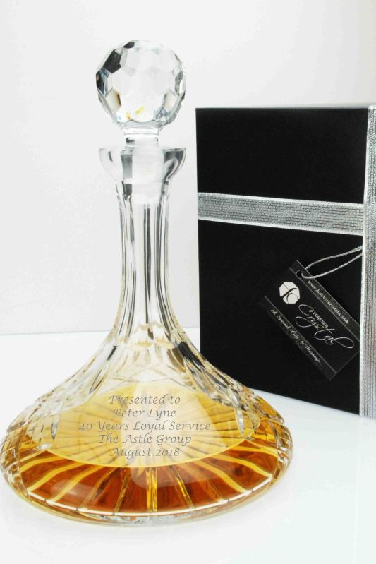 Personalised Crystal Ships Decanter