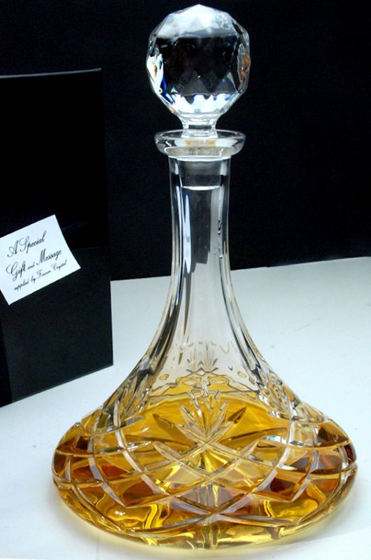Galleon Crystal Ships Decanter