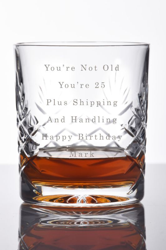 Personalised Whisky Tumbler Gift With Your Own Message