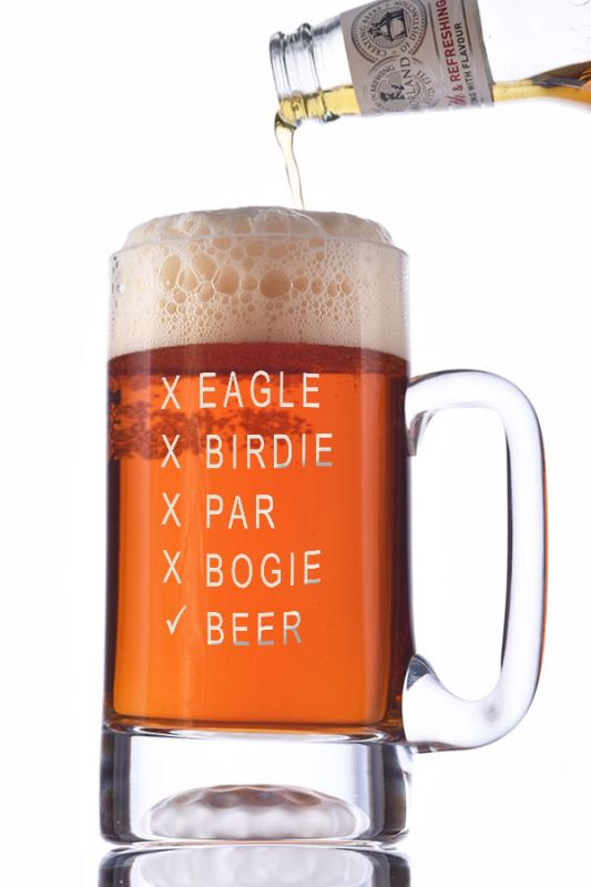 Personalised Golf Ball Beer Tankard | Engraved Golfing Gift