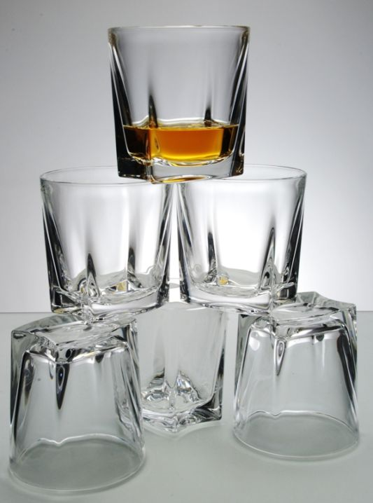 Kathrene Crystal Whisky Glass Set | Satin Presentation Box