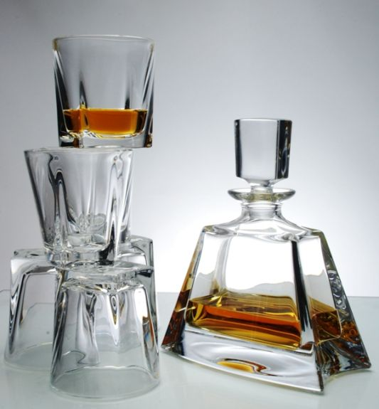 Kathrene Wide Spirit Decanter + 6 Tumblers