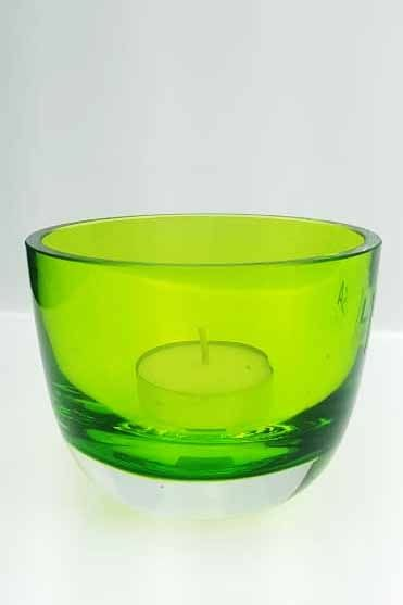 LSA Cased-Lime Glass Tealight Holder