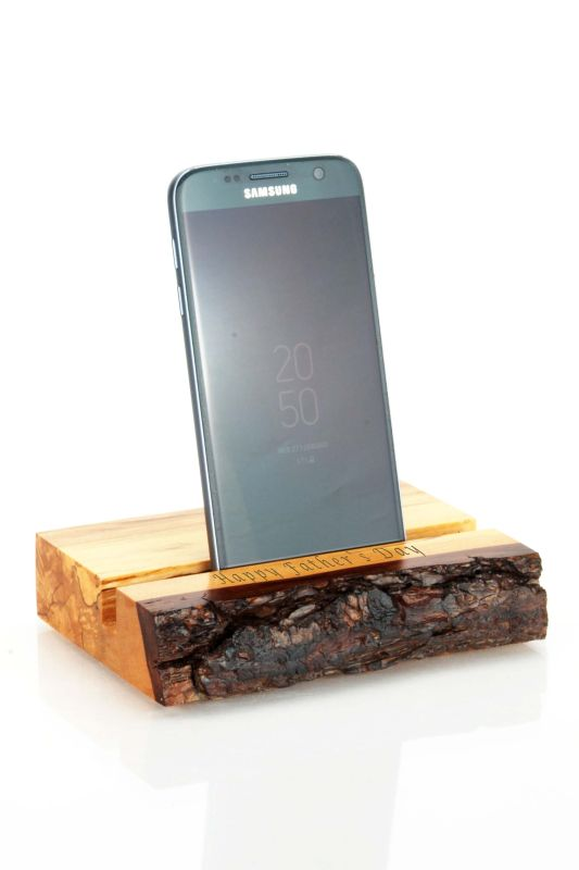 Handcrafted Natural Wood Mobile Phone Stand
