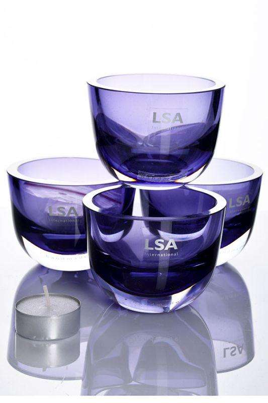 LSA Handmade Opal Tealights | Set of 4