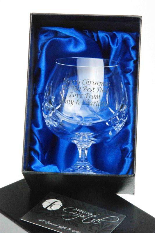 Personalised Admiralty Crystal Brandy Glass Gift in Presentation Box