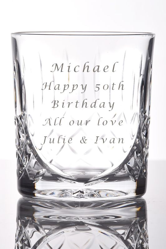 Personalised Admiralty Crystal Whisky Glass | Satin Boxed