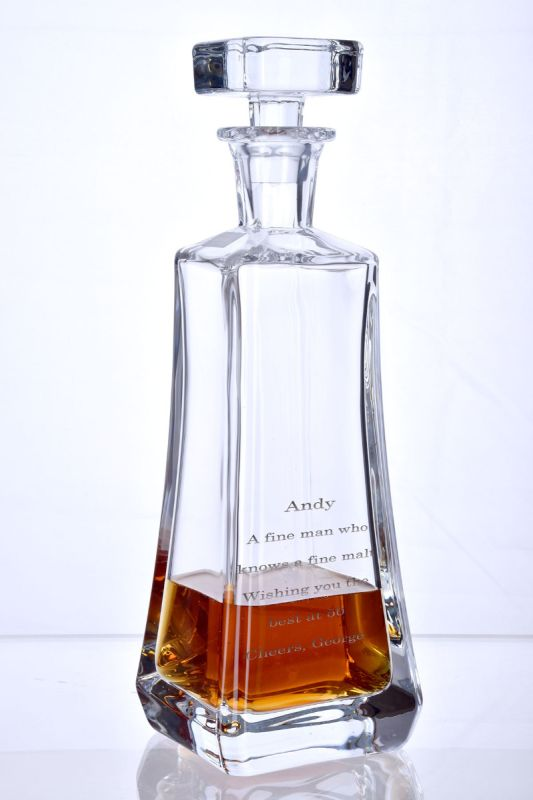 Engraved Pyramid Decanter