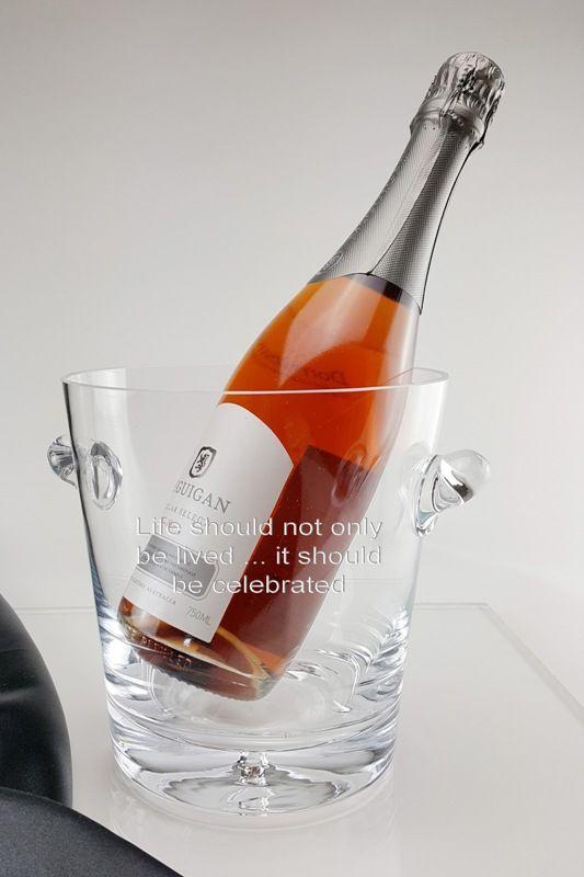 Personalised Bubble Base Champagne Bucket