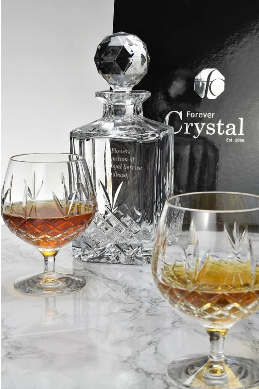 Personalised Buckingham Crystal 3-Piece Brandy Decanter Gift Set