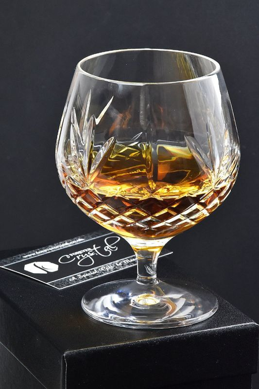 Buckingham Crystal Brandy Glass Gift | Satin Boxed