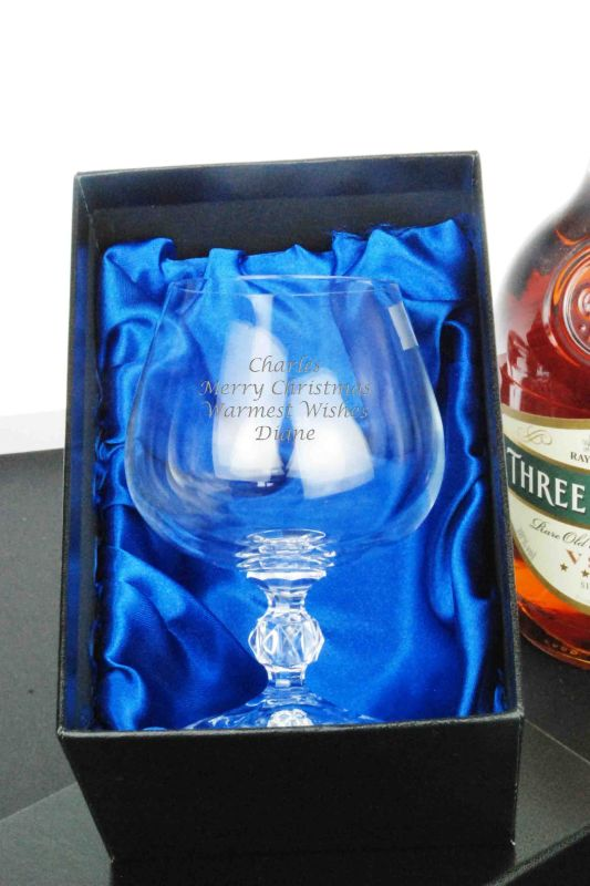 Personalised Brandy Glass Gift