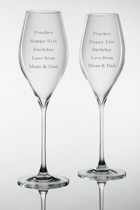 Personalised Prosecco Glasses | Gift Boxed Pair