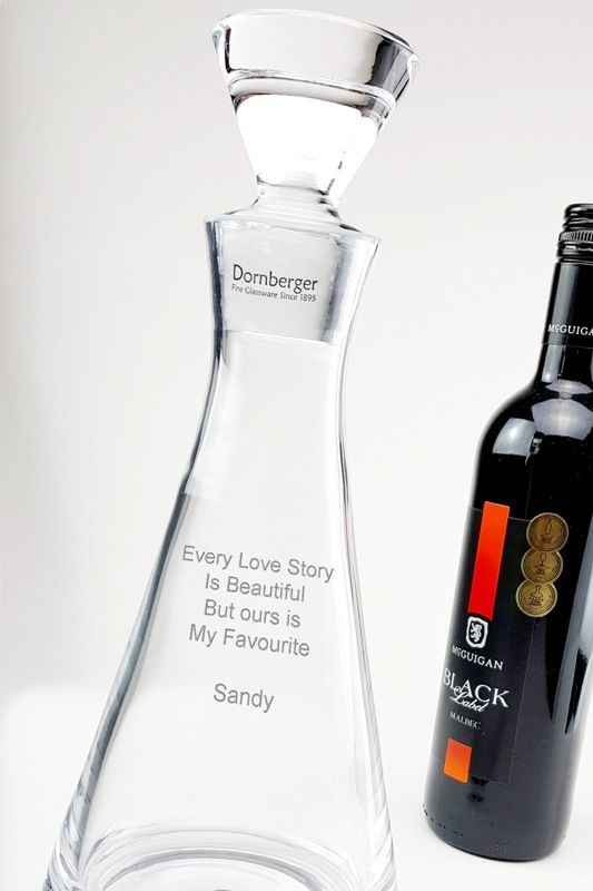 Personalised Bubble Base Conical Decanter