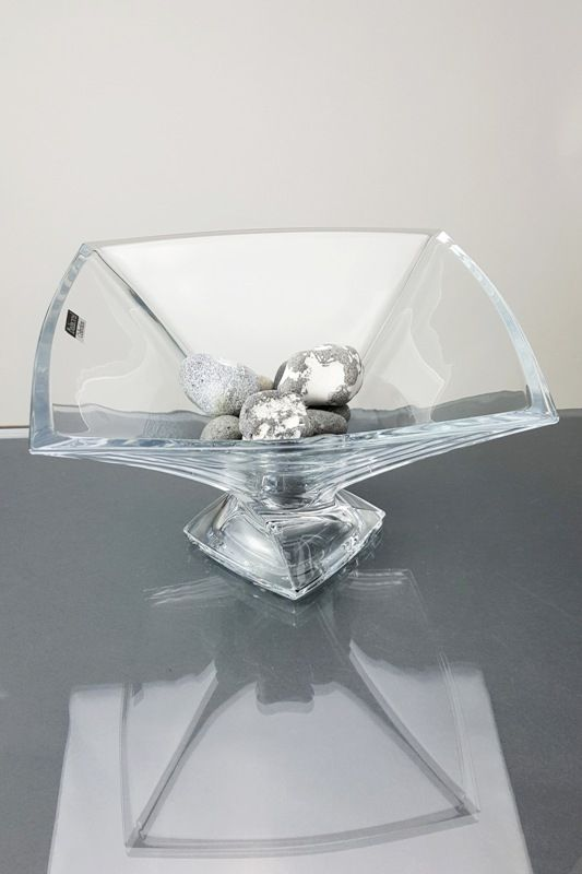 Contemporary Twisted Square Footed Bowl | Quadro
