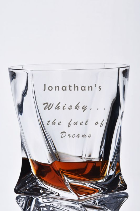 Engraved Whisky Glass Gift | Whisky ... The Fuel of Dreams