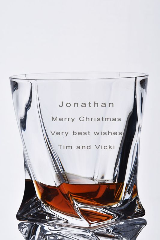 Engraved Whisky Glass | Personalise With Your Own Message