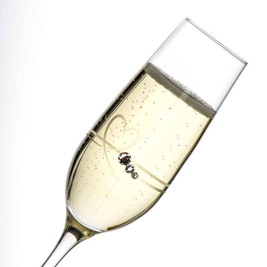 Diamante Petit Champagne Flutes