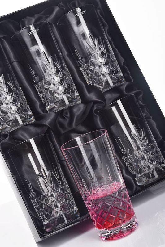 Speymore Crystal Highball Tumblers, Set of 6 in Presentation Gift Box