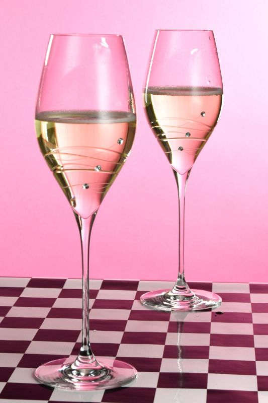 Spiral Prosecco Glasses | Gift Boxed Pair